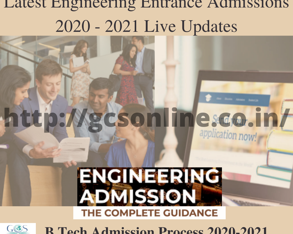 B.Tech Admission Process 2020